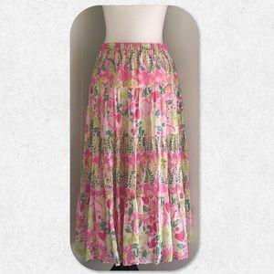 Lilly Pulitzer Long Peasant Skirt